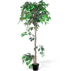 vidaXL Kunstig Ficus med Potte 160 cm