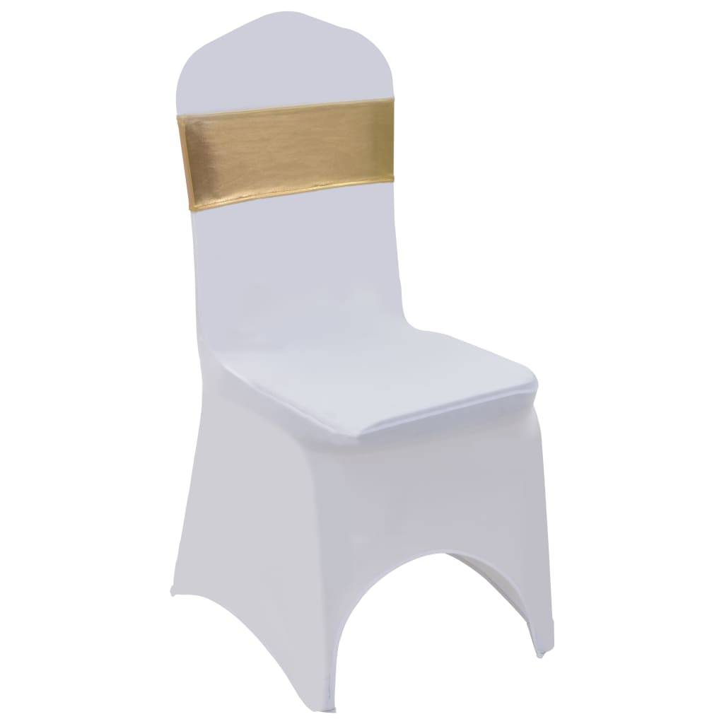 vidaXL Stolbånd 25 stk stretch med diamantsløyfe gull