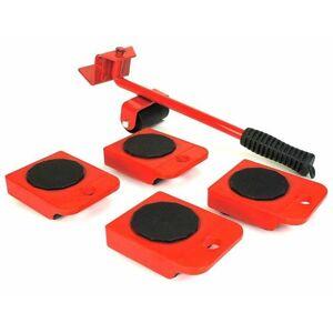 HI Hjulsett til møbeltransport rød og svart