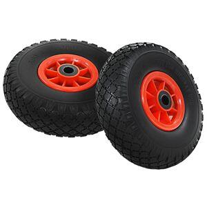 vidaXL Sekketrallehjul 2 stk massiv PU 3,00-4 (260x85)