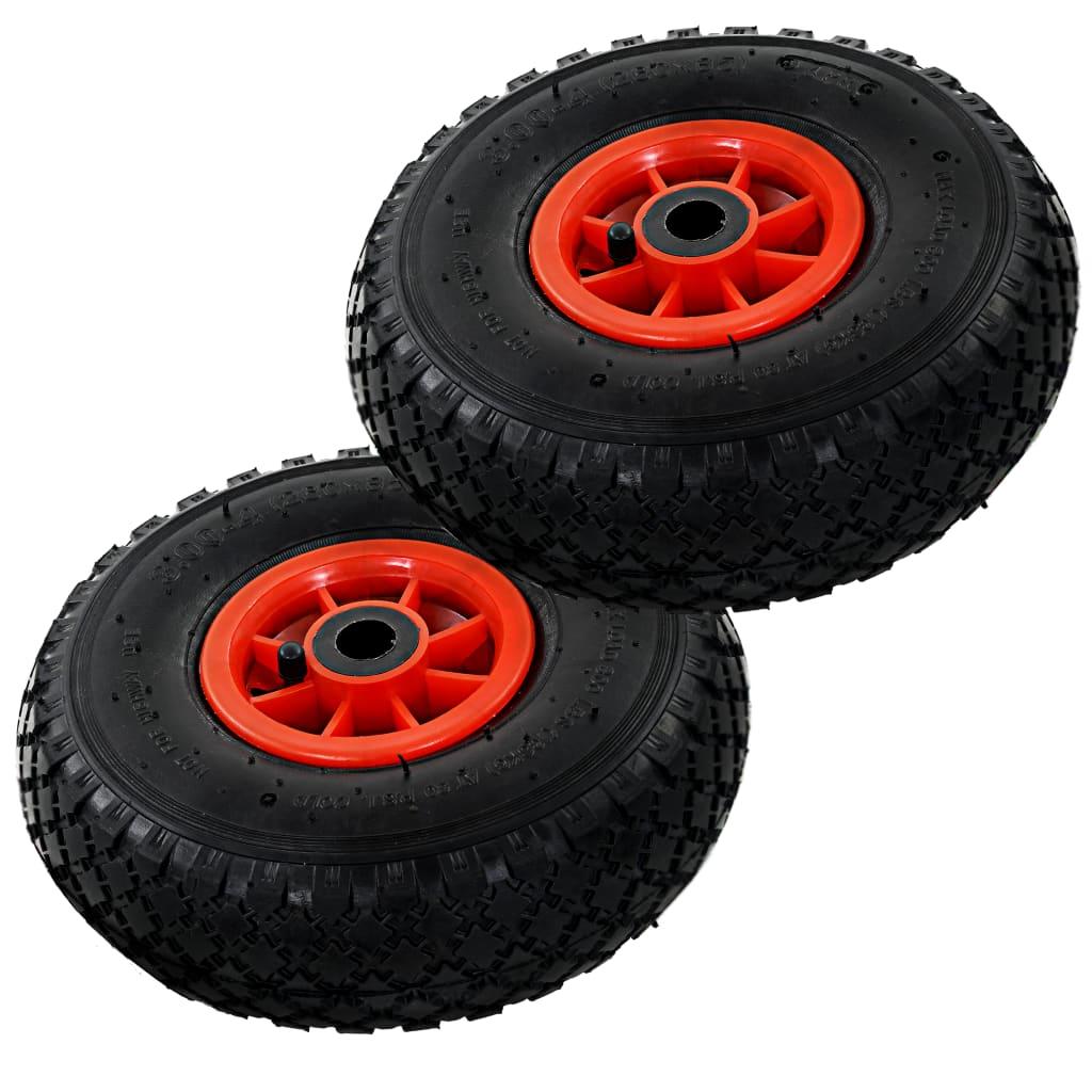 vidaXL Sekketralle hjul 2 stk gummi 3,00-4 (260x85)