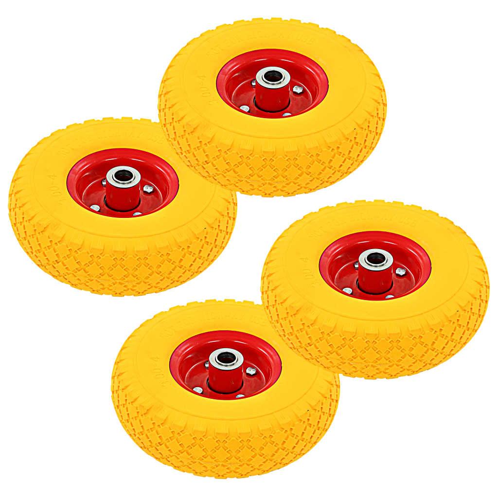 vidaXL Sekketralle hjul 4 stk gummi 3,00-4 (260x85)