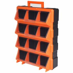 vidaXL Bærbar veggmonterbar verktøykasse med 12 rom