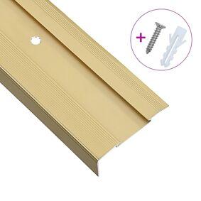 vidaXL L-formede trappeneser 15 stk aluminium 100 cm gull