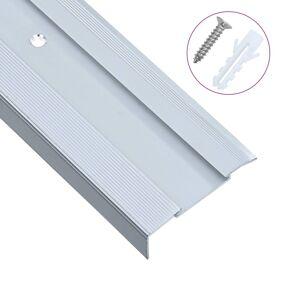 vidaXL L-formede trappeneser 15 stk aluminium 90 cm sølv