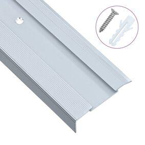 vidaXL L-formede trappeneser 15 stk aluminium 100 cm sølv