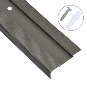 vidaXL L-formede trappeneser 15 stk aluminium 100 cm brun