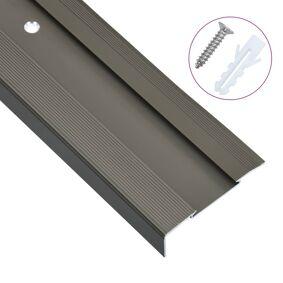 vidaXL L-formede trappeneser 15 stk aluminium 134 cm brun