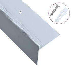 vidaXL F-formede trappeneser 15 stk aluminium 90 cm sølv