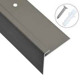 vidaXL F-formede trappeneser 15 stk aluminium 90 cm brun