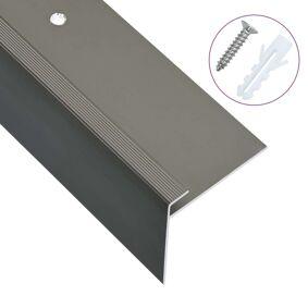 vidaXL F-formede trappeneser 15 stk aluminium 100 cm brun