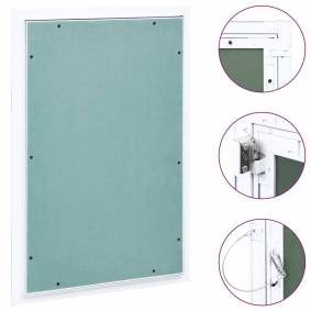 vidaXL Inspeksjonsluke med aluminiumsramme og gipsplate 400x600 mm