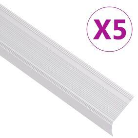 vidaXL Trappeneser L-form 5 stk aluminium 100 cm sølv