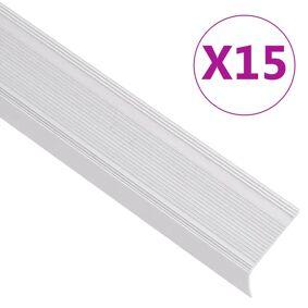 vidaXL Trappeneser L-form 15 stk aluminium 100 cm sølv