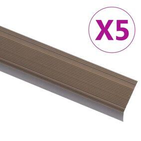 vidaXL Trappeneser L-form 5 stk aluminium 134 cm brun