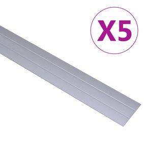 vidaXL Gulvprofiler 5 stk aluminium 90 cm sølv