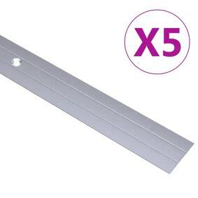 vidaXL Gulvprofiler 5 stk aluminium 100 cm sølv