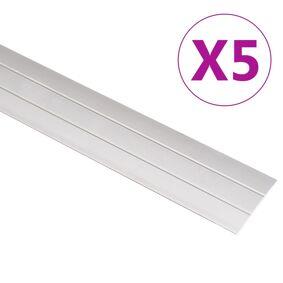 vidaXL Gulvprofiler 5 stk aluminium 100 cm gull
