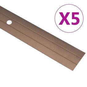 vidaXL Gulvprofiler 5 stk aluminium 134 cm brun