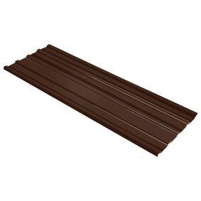 vidaXL Takplater 12 stk galvanisert stål brun