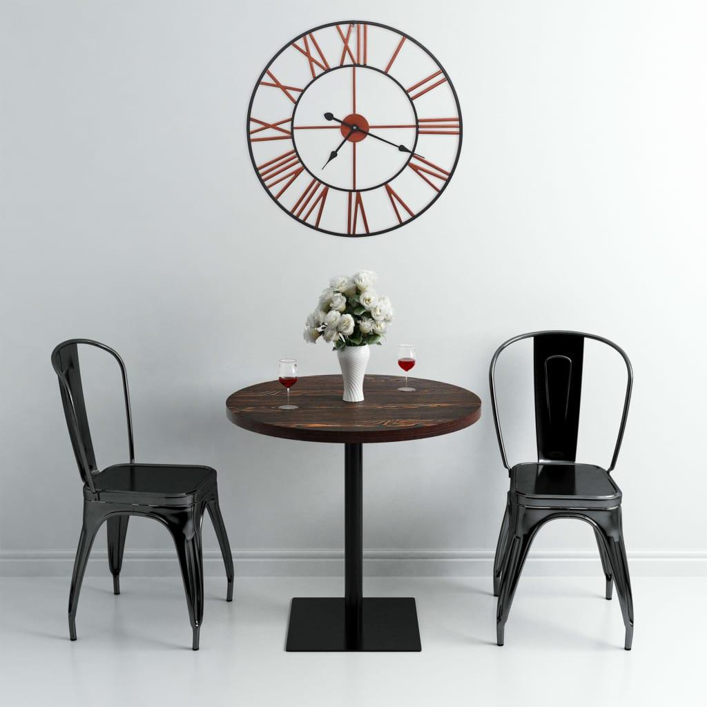vidaXL Veggklokke metall 58 cm rød