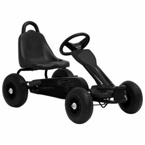 vidaXL Pedal-go-kart med pneumatiske dekk svart
