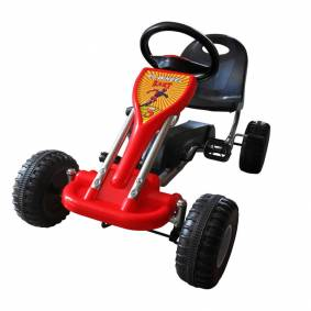 vidaXL Pedal-go-kart rød