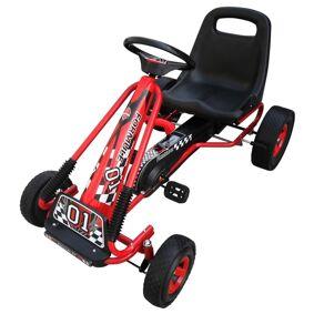vidaXL Pedal-go-kart for barn rød
