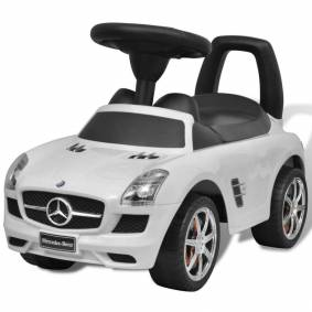 vidaXL Hvit Mercedes Benz Barnebil