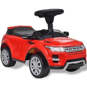 vidaXL Rød Land Rover 348  lekebil med musikkspiller