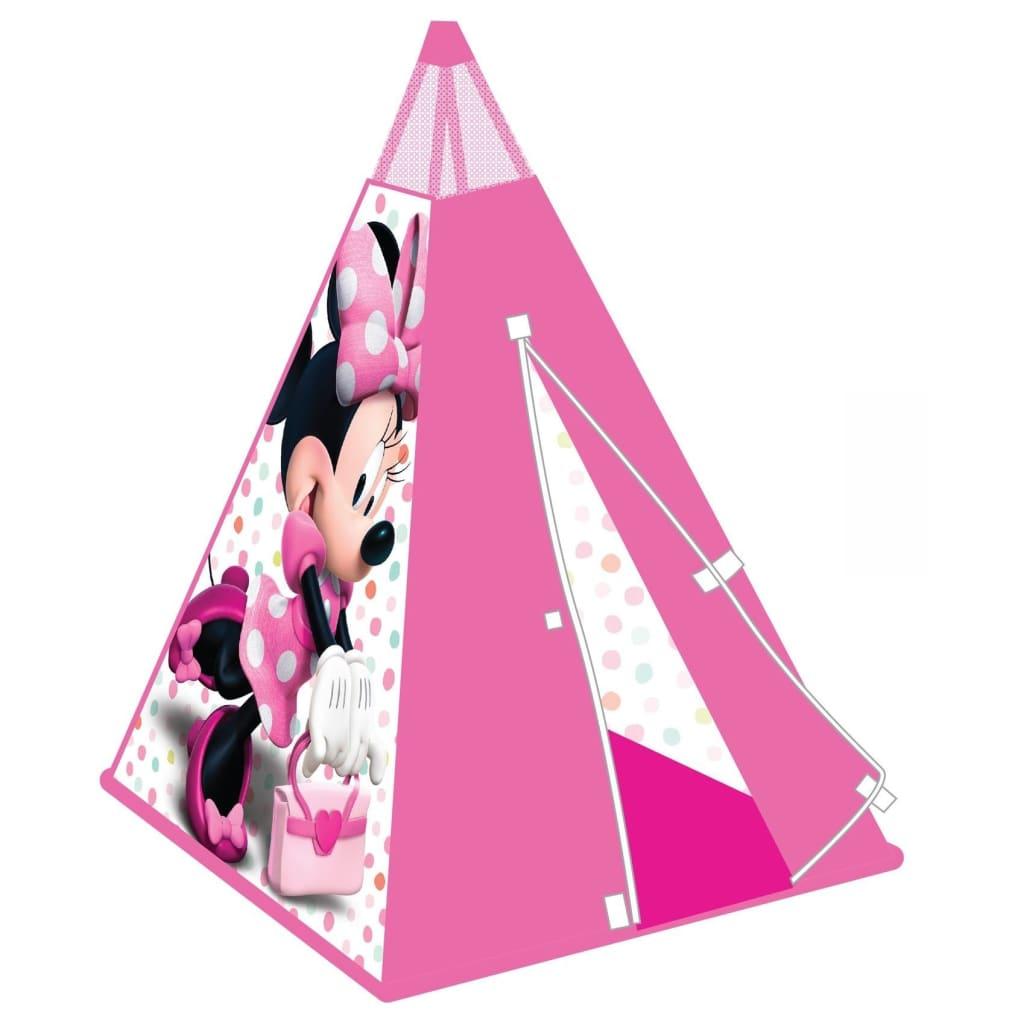 Worlds Apart Tipi-leketelt Minnie Mouse 100x100x120 cm rosa