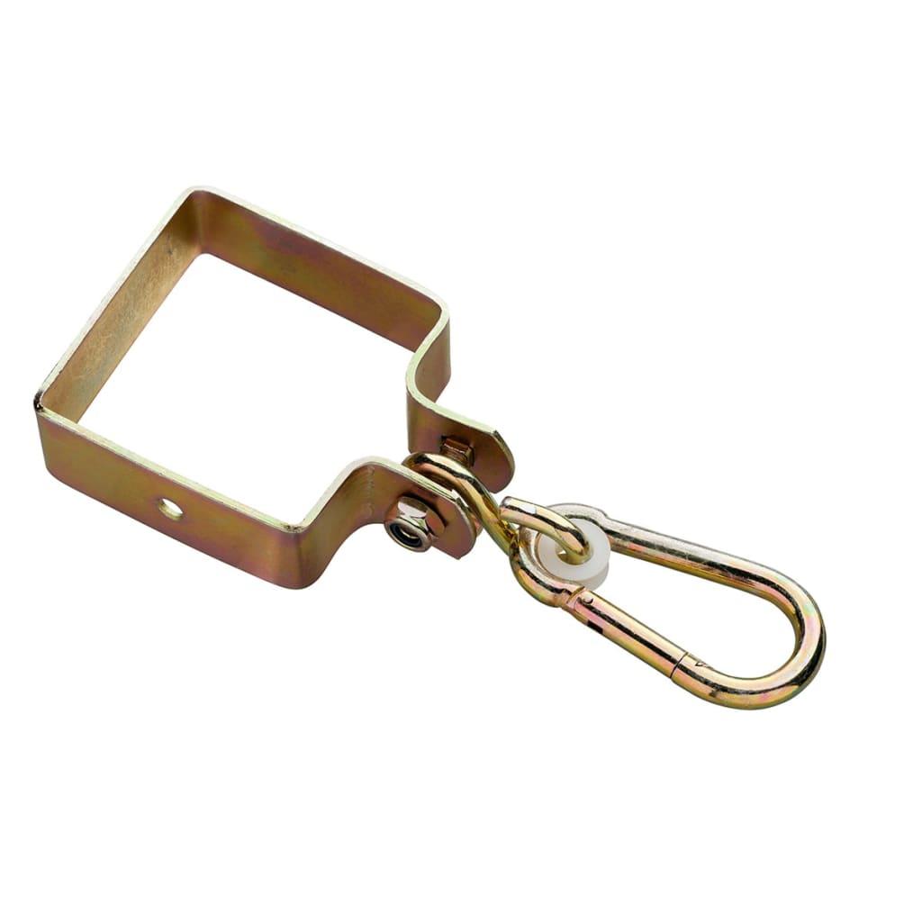 Swing King Huskekrok firkantet 90 x 90 x 3 mm sinkbelagt gul 2520030