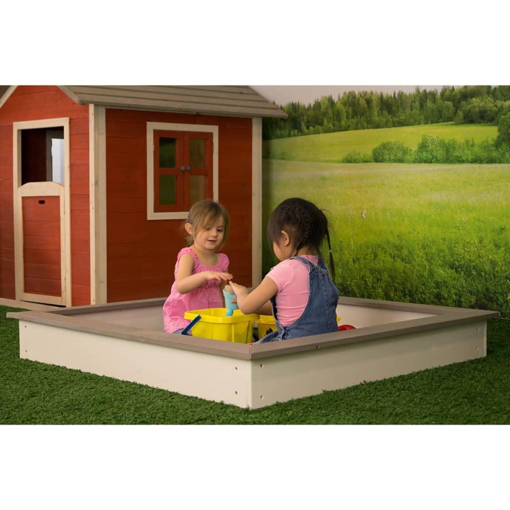 Sunny Sandkasse av tre 127x127 cm brun og hvit C052.001.00