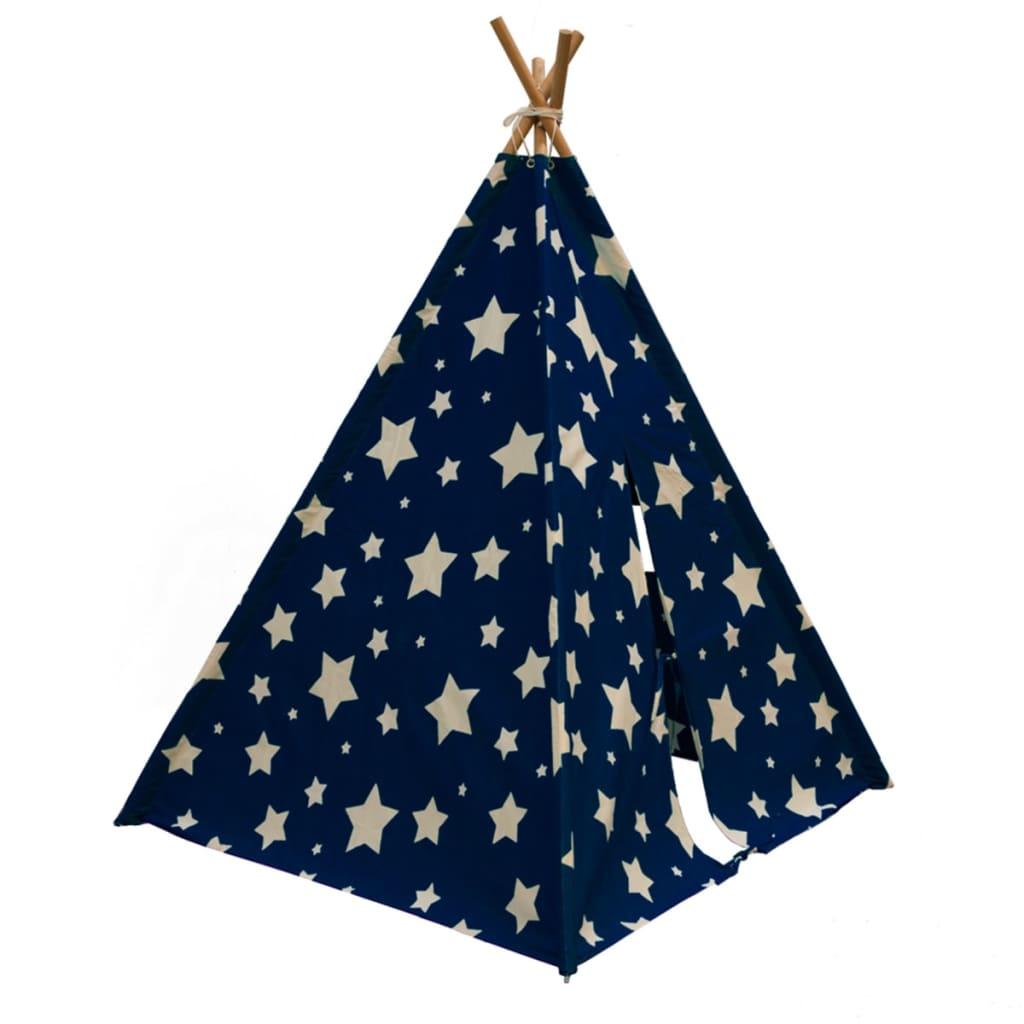 Sunny Teepeetelt Cosmo lyser i mørket blå og hvit C052.102.01