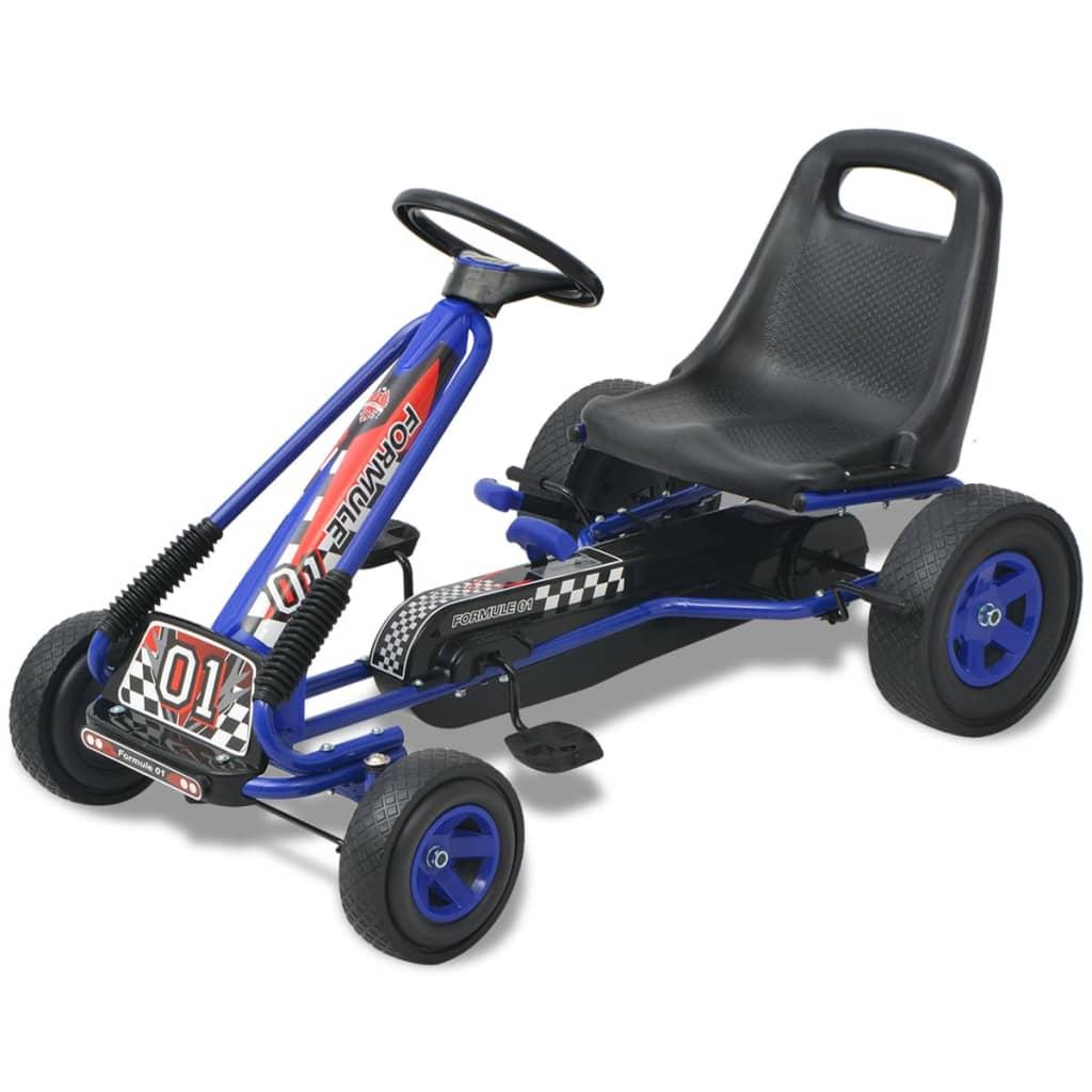 vidaXL Pedal--go-kart med justerbar sete blå