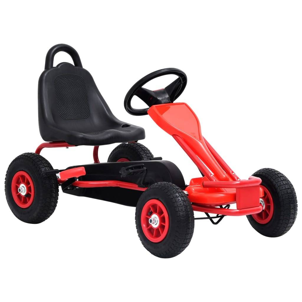 vidaXL Pedal-go-kart med pneumatiske dekk rød