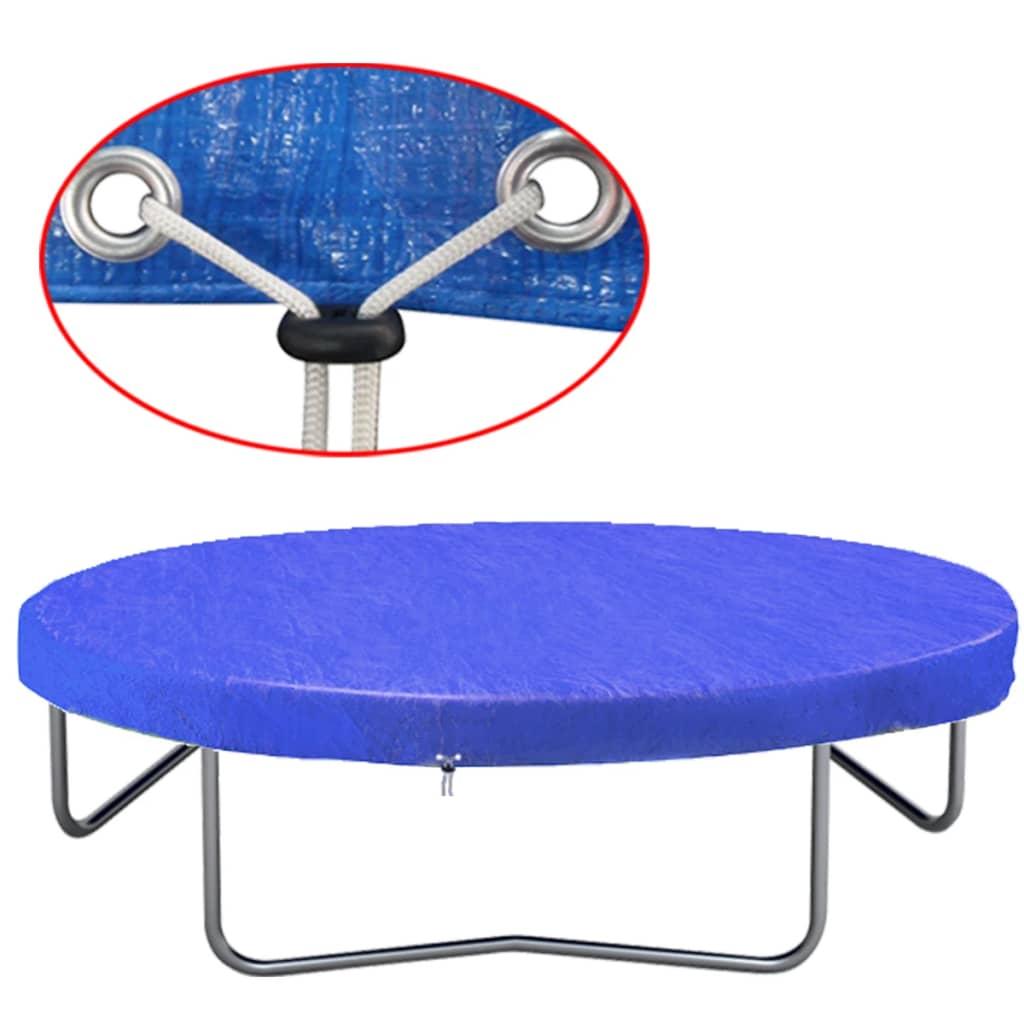 vidaXL Trampolinetrekk PE 450-457 cm 90 g/m²