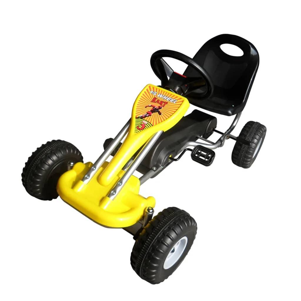vidaXL Pedal-go-kart gul