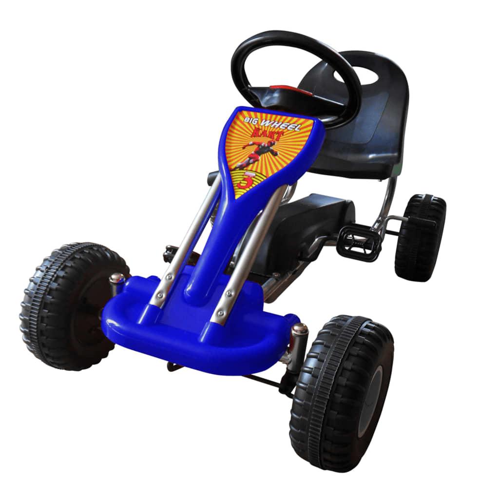 vidaXL Pedal-go-kart blå