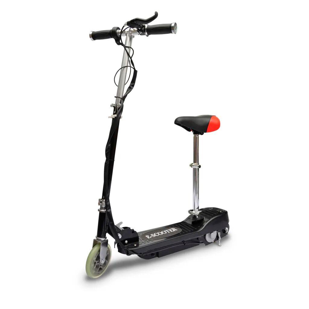 vidaXL Elektrisk sparkesykkel med sete 120 W svart