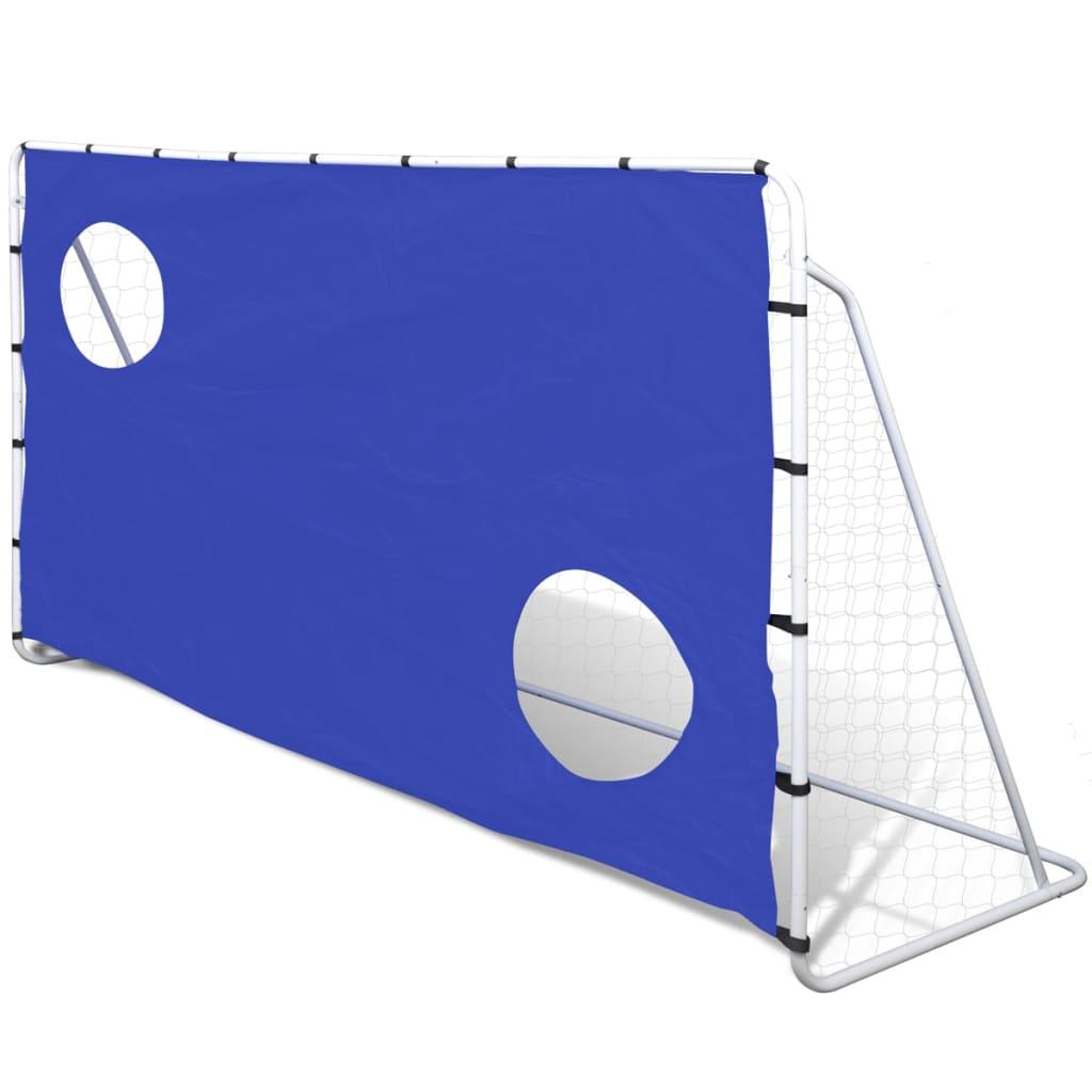 vidaXL Fotballmål med Skuddvegg Stål 240 x 92 x 150 cm