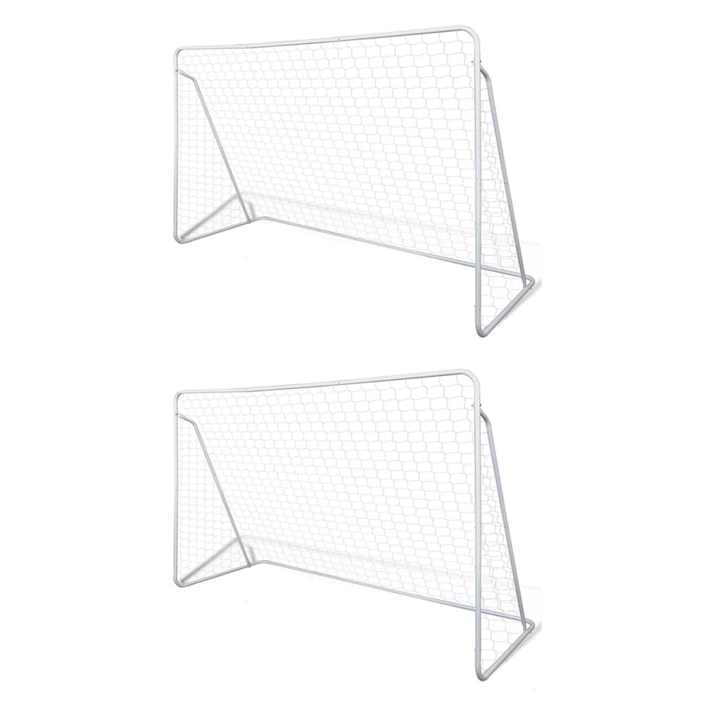 vidaXL Fotballmål stål 2 stk 240x90x150 cm
