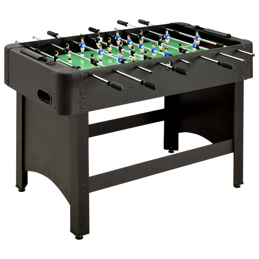 vidaXL Fotballbord 118x95x79 cm svart