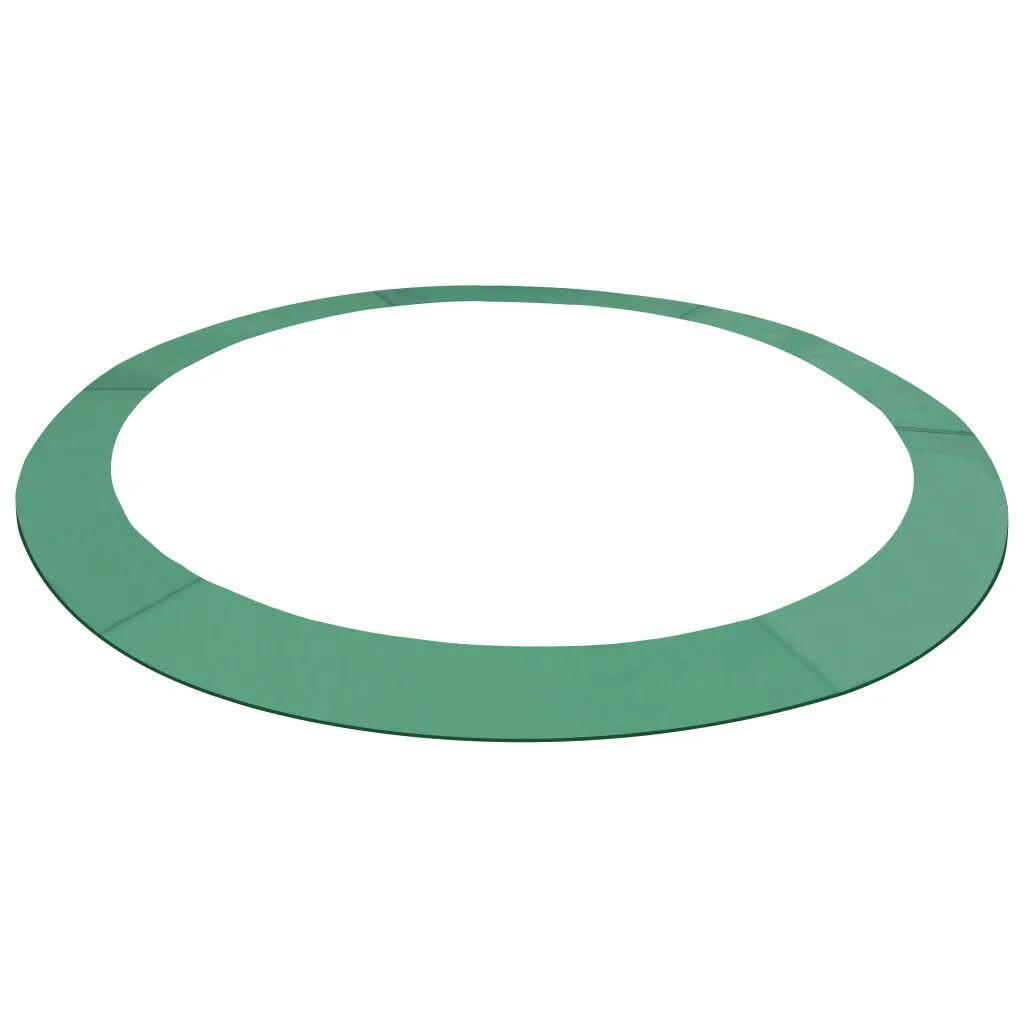 vidaXL Sikkerhetsmatte PE grønn 3,66 m rund trampoline