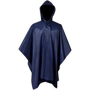 7235490d Dame sportsklær vidaXL Vanntett militær regnponcho for camping/fotturer,  marineblå