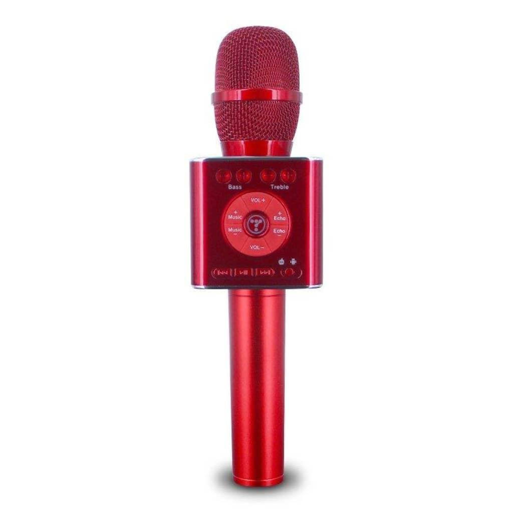 Antgamer Trådløs Karaoke-mikrofon med Bluetooth-høyttaler 2x5W rød