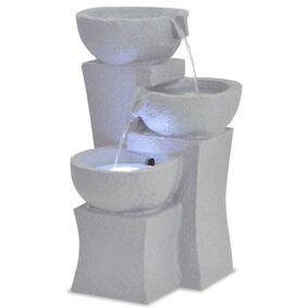 vidaXL Innendørs fontene med LED-lys polyresin