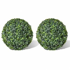 vidaXL Buksbomball kunstige blader 35 cm 2 stk