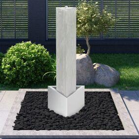 vidaXL Hagefontene sølv 37,7x32,6x110 cm rustfritt stål
