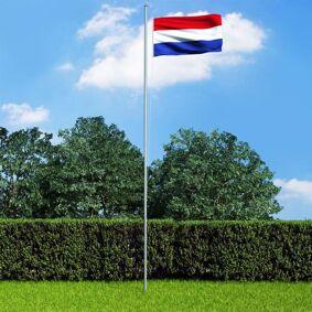 vidaXL Nederlandsk flagg 90x150 cm